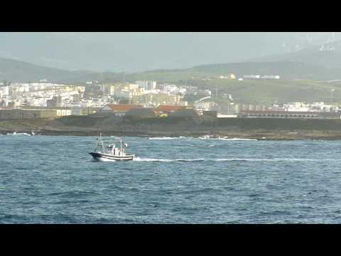 Crossing the Strait of Gibraltar, Tarif-Tanger 2010.MOV