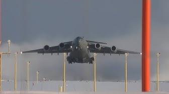 4K | Boeing C-17 Globemaster at Tampere-Pirkkala