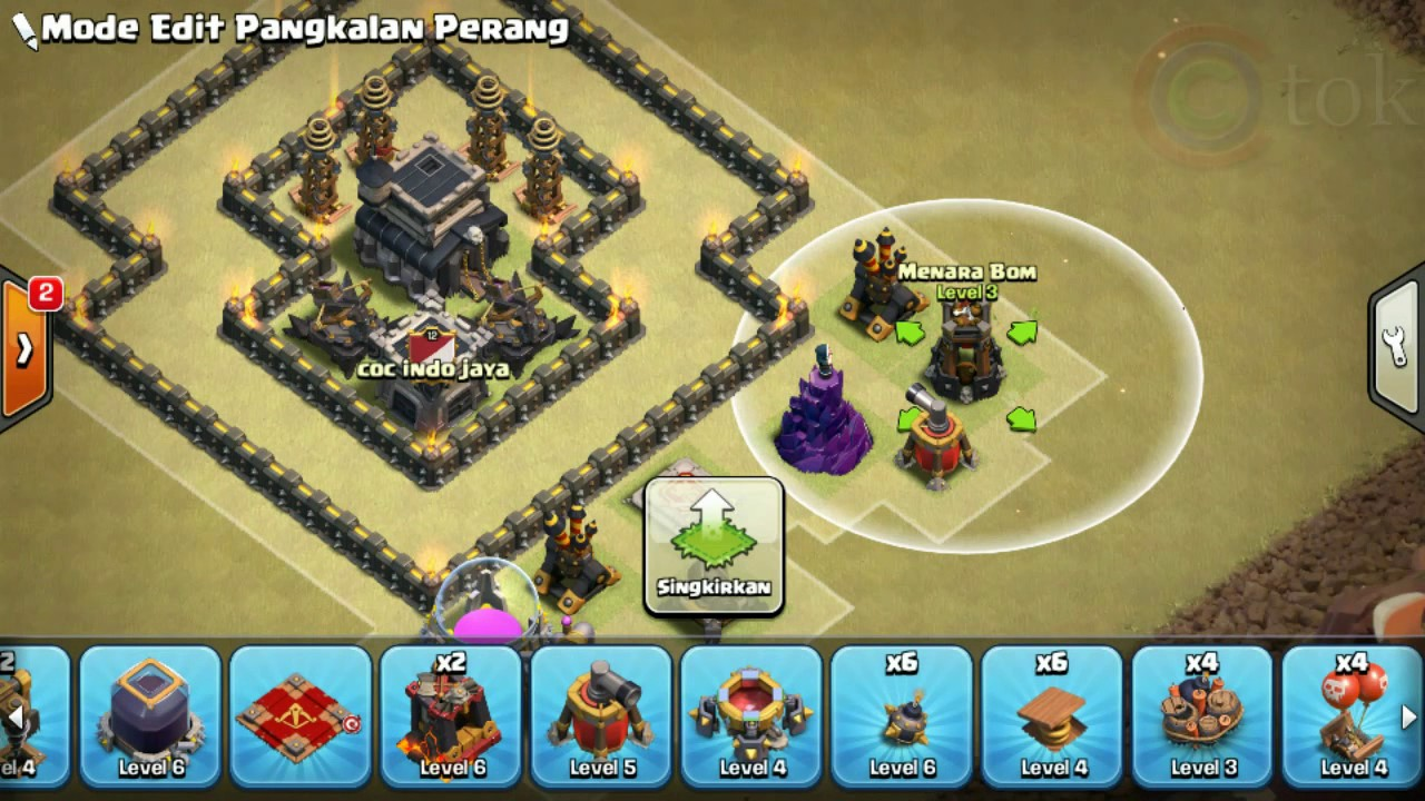 Base Coc Th 9 Pangkalan Perang 11