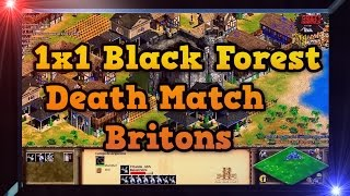 Age of Empires 2 HD 1x1 Black Forest Death Match AoE2HD Gameplay Parte 1