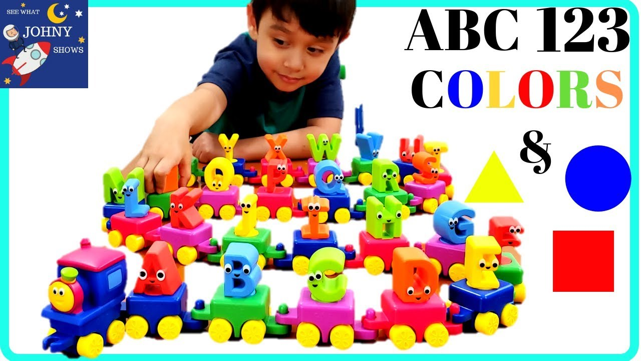 Learn ABC 123 Colors & Shapes With BOB The Train ALPHABET TRAIN Toy | ABC  SONG