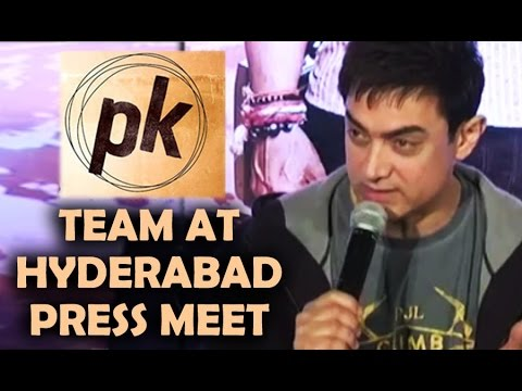 PK Team at Hyderabad Press Meet | Promotions | Aamir Khan, Anushka Sharma - Gulte.com