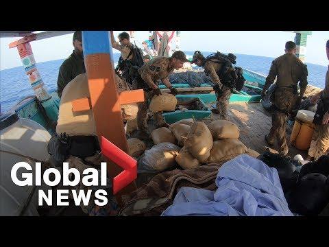 Canadian Navy makes 2.5 tonne drug bust in Indian Ocean