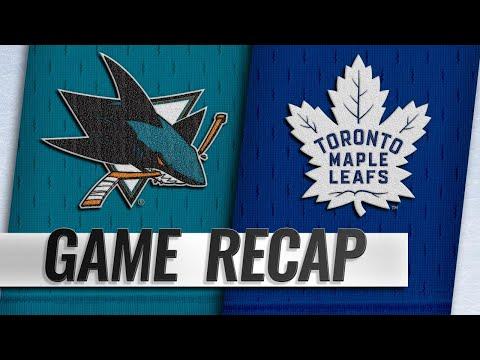Matthews scores twice in return, Leafs top Sharks