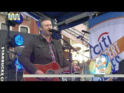 Blake Shelton - I Lived It live Today Show