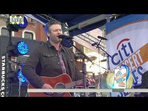 Blake Shelton  I d It  Today Show