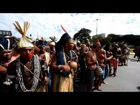 Brazilian indigenous people march for rights and land protection