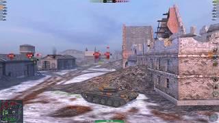 WoT Blitz T-54 mod 1 3.9K 1 vs 5