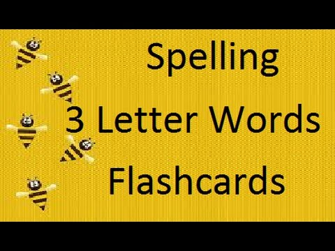 Spelling 3 Letter Words Flashcards For Baby and Toddlers / Early Learning Educational Videos
