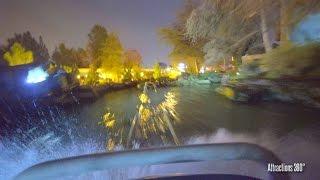 [4K] Matterhorn Bobsleds Roller Coaster at Night POV - Disneyland 2017