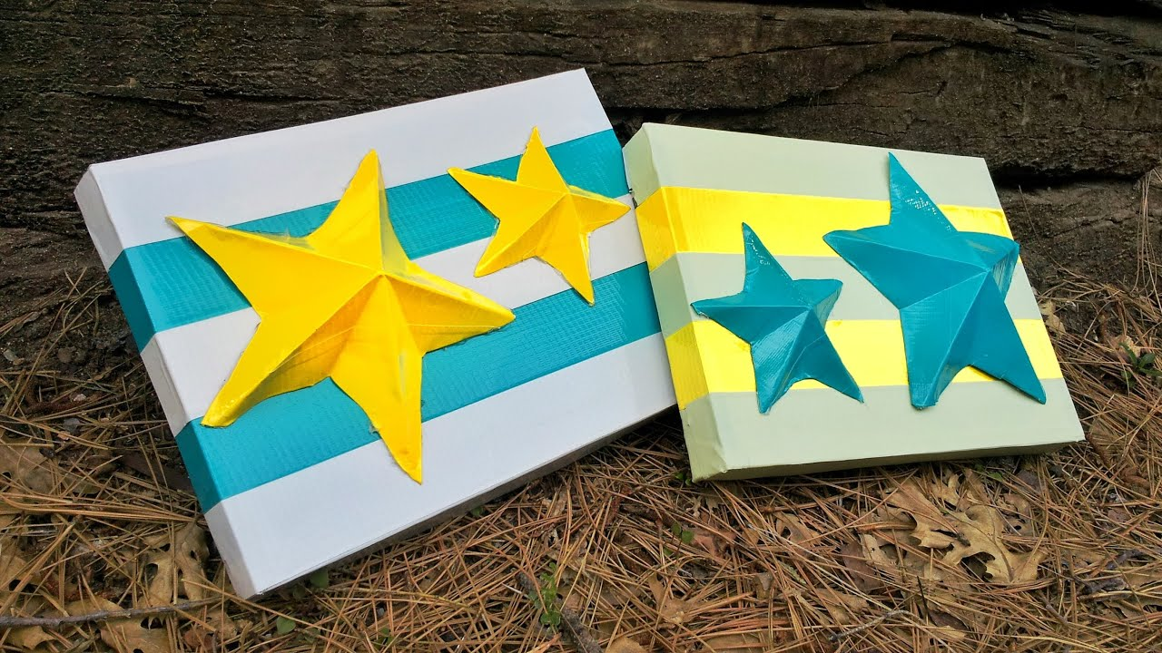 Diy Duct Tape Canvas Wall Art
