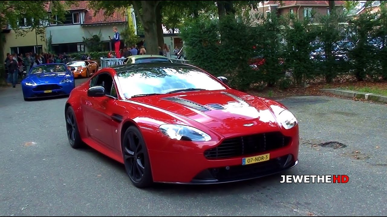 Aston Martin V12 Vantage Roadster & Coupe SOUNDS! Revs & Accelerations!