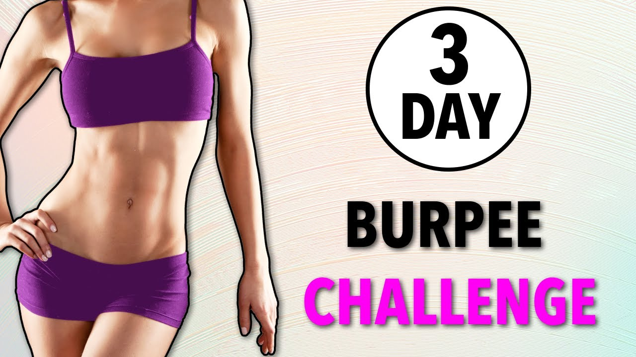 3-DAY BURPEES CHALLENGE - BEST FAT BURN EXERCISE
