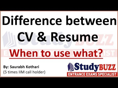 Difference Between Cv Resume When To Use What
