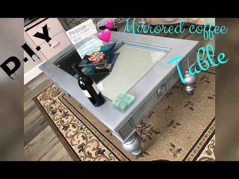 DIY MIRRORED COFFEE TABLE! ♡