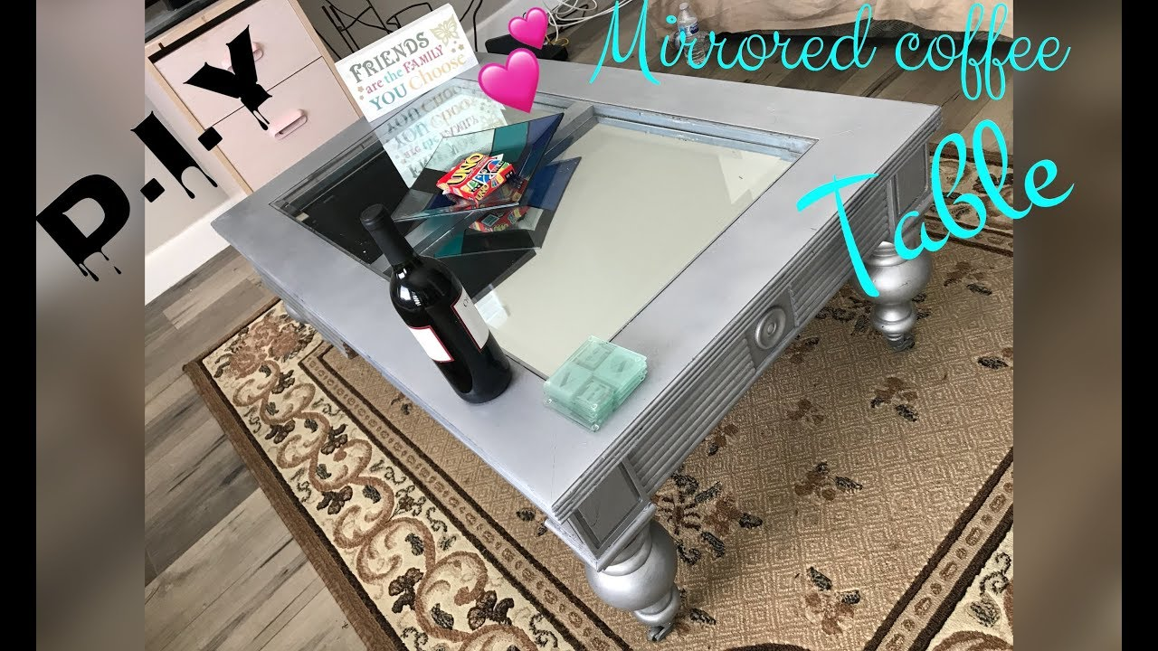 DIY MIRRORED COFFEE TABLE! ♡