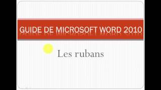 Formation MOS Guide Microsoft Word 2010 p1