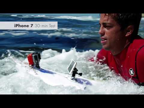 The iPhone 7 is water resistant, but can it survive big wave surfing?