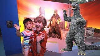 超好玩刺激的 哥吉拉玩具展 酷斯拉!小陶德會怕怕嗎? Kids fun Godzilla Museum | 沛莉