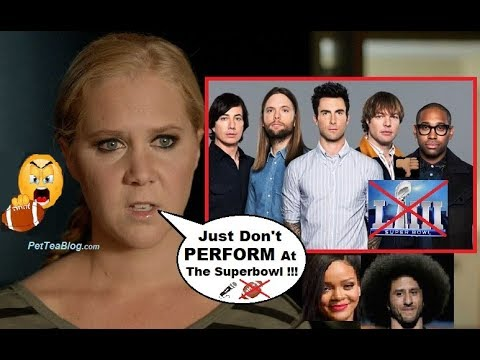 Amy Schumer Calls Out Maroon 5 to Drop Out of SUPERBOWL like Rihanna did! ❌🏈👎 Mp3