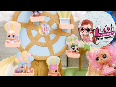 LOL Doll Family Hairvibes Routine With New Barbie Dollhouse & Toys