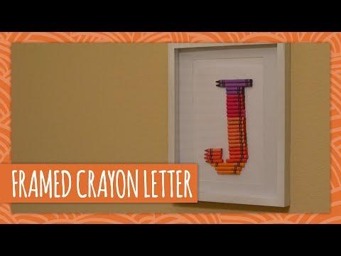 diy framed crayon letter hgtv handmade