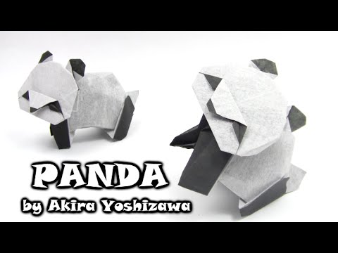 Origami diagram of the panda | 360x480