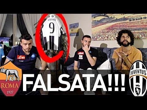 FALSATA!!! ROMA 3-1 JUVENTUS   REAZIONE NAPOLETANI LIVE HD