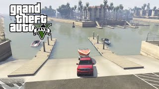 GTA 5 - Launching Boat and Driving Up LS River