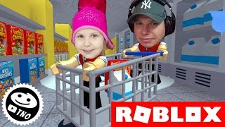 WE RUN FROM THE SUPERMARKET! -Escape The Supermarket Obby!! | Roblox | Daddy and Barunka CZ/SK