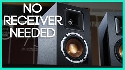 These Are Easy To Use Bookshelf Speakers That Do Not Need A Receiver ! R-14PM