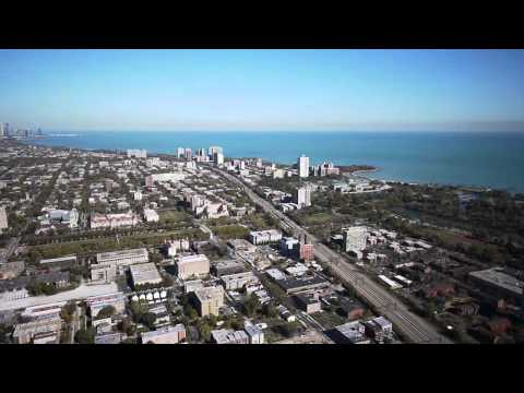 Downtown Chicago to Hyde Park, by helicopter