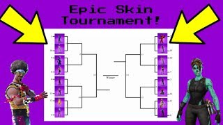 EPIC SKIN RANKING *TOURNAMENT* Fortnite Battle Royale! (Group A)