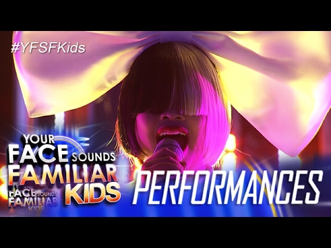 Your Face Sounds Familiar Kids: Elha Nympha as Sia - Titanium