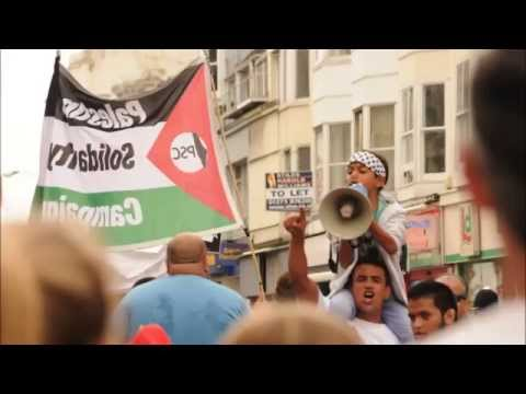 Photos of  Brighton  Protest against  Israeli Massacres in  Gaza  20\07\2014