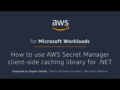 How to use AWS Secret Manager client-side caching library for .NET