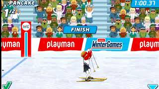 Playman Winter Games playing to win trophy