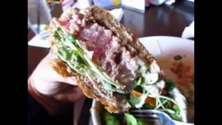 Where To Eat In Langford Bc Canada Loghouse Pub Ahi Tuna Burger Canucks - Phil In Vancouver