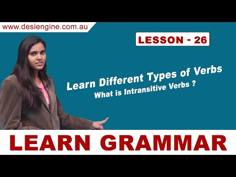 Lesson - 26 Learn Different Types of Verbs | Learn English Grammar | Desi Engine India