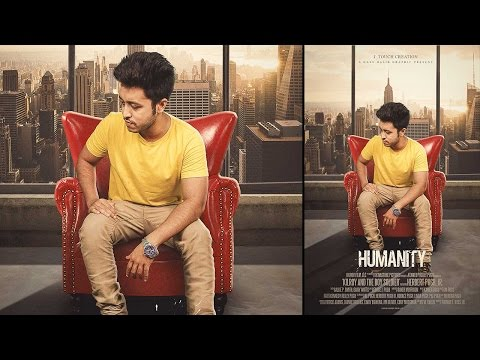 How To Create Movie Poster in Photoshop | HUMANITY Movie Poster Design