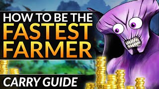 How to be THE FASTEST FARMING CARRY  BROKEN Farming Patterns  Dota 2 Tips and Tricks Guide