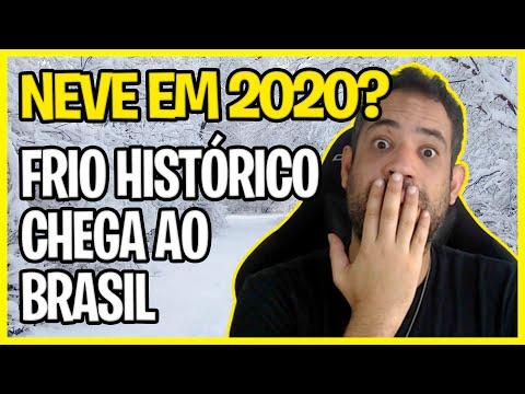 NEVE EM 2020? FRIO HISTÓRICO CHEGA O BRASIL! INVERNO ONDA DE FRIO 2020