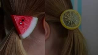 Akcesoria do włosów z Chin! Cytryna i arbuz na włosach!