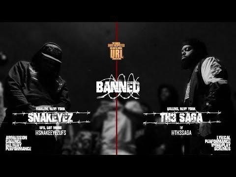 BANNED: TH3 SAGA VS SNAKE EYEZ RAP BATTLE | URLTV