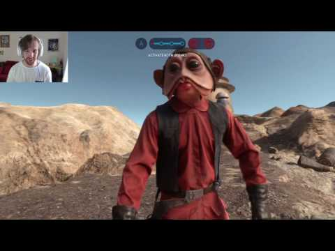 Star Wars Battlefront: 138 Nien Nunb killstreak LIVE w/ Facecam lol