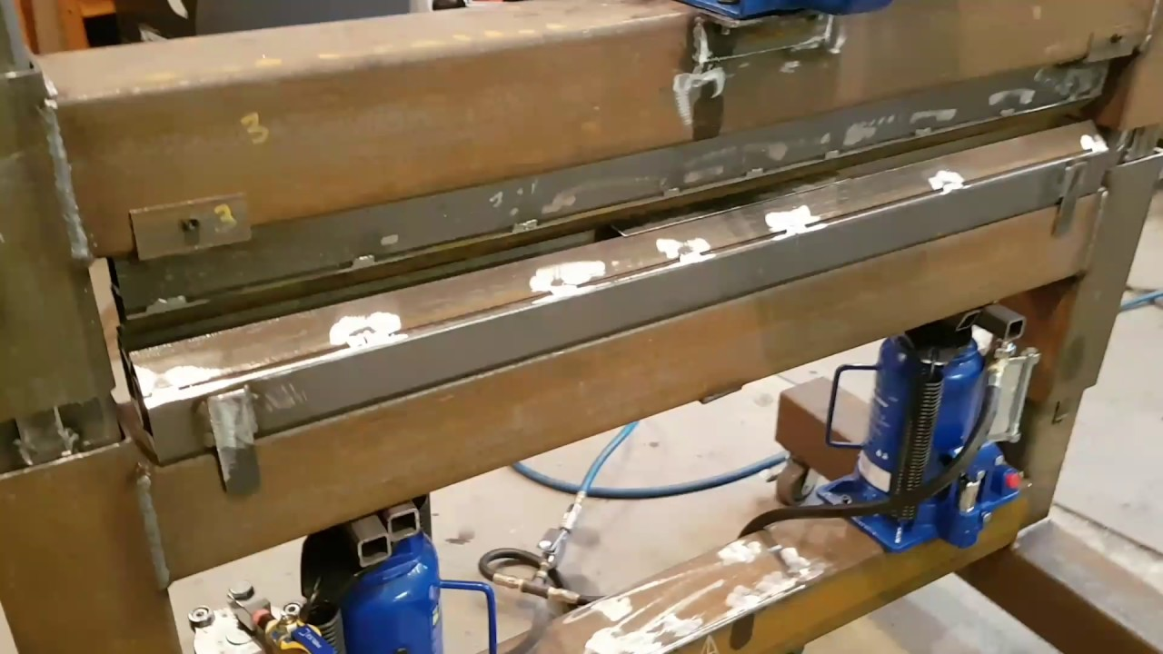 Metal Objects With Press Brake Made : Diy home made press brake youtube