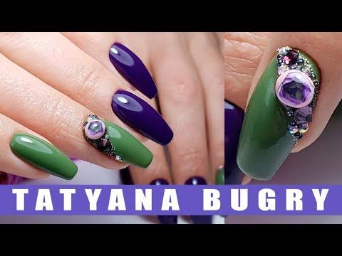 Пуанты форма ногтей дизайн