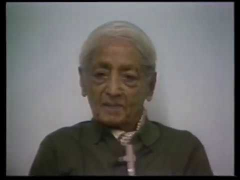 J. Krishnamurti - Los Alamos, New Mexico 1984 - Scientists Disc. - Creation comes out of meditation