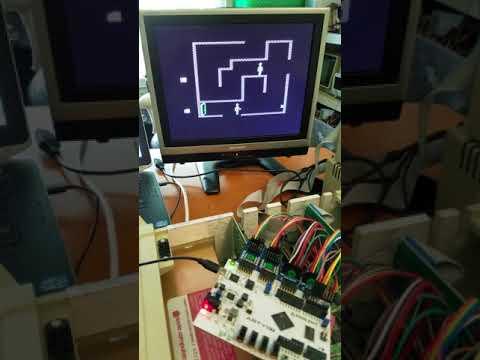MCL65 6502 FPGA core running Castle Wolfenstein on Apple II+ - YouTube