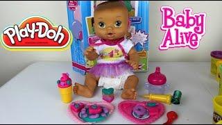 Baby Alive  Play-Doh Birthday Party | Play-Doh Baby Alive Fiesta de Cumpleaños
